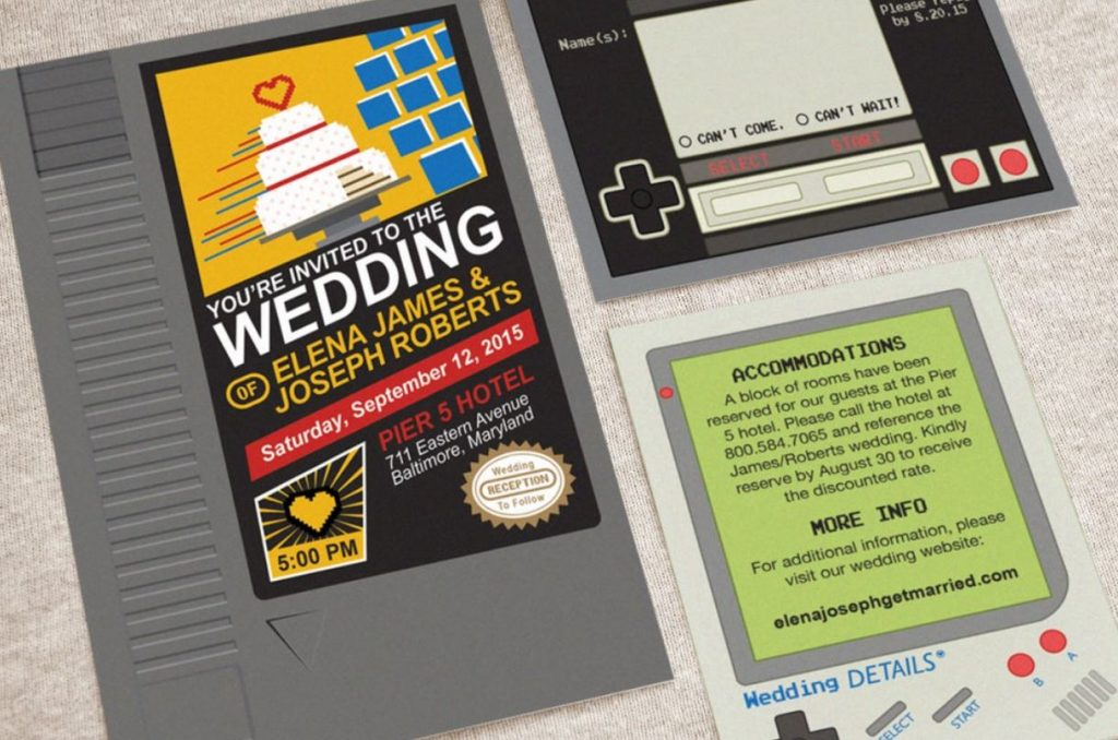 Geek Nerd Wedding Invitations