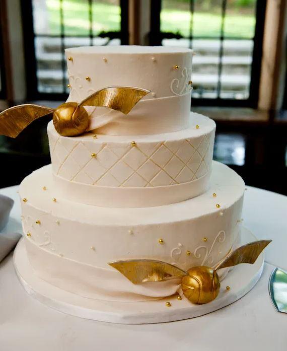 Harry Potter Snitch Wedding Cake