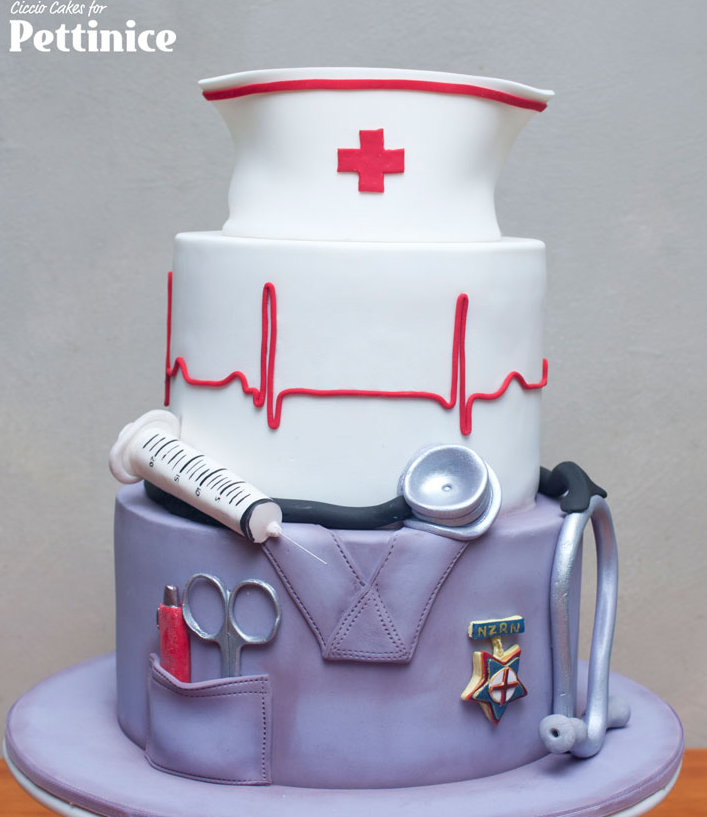 Nurse graduation cake idea