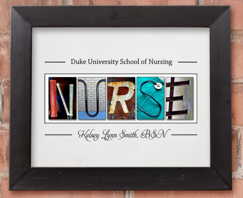nurse graduation digital print