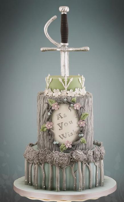 Princess Bride Wedding Cake