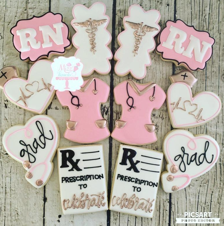 nurse graduation cookies