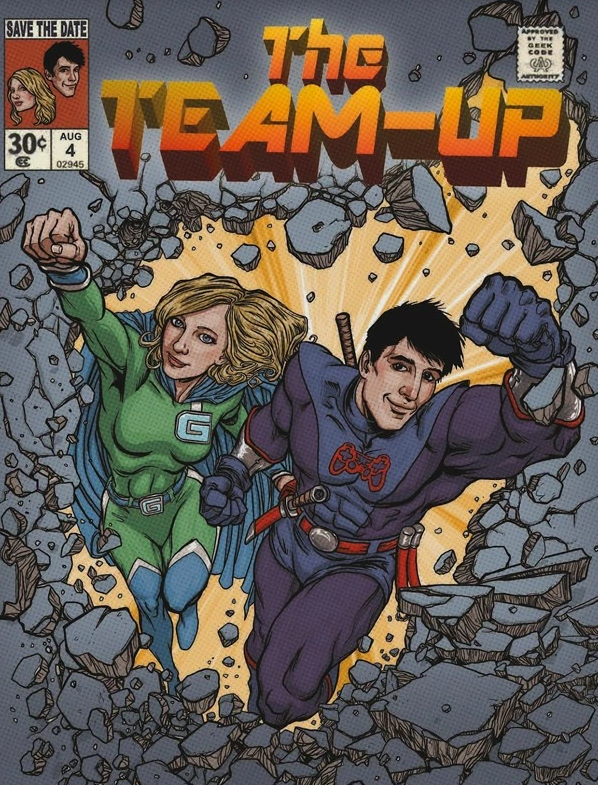 comic book save the date