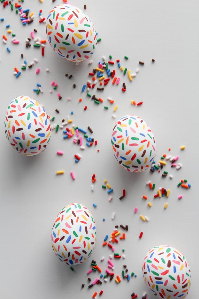 Sprinkled Easter Eggs