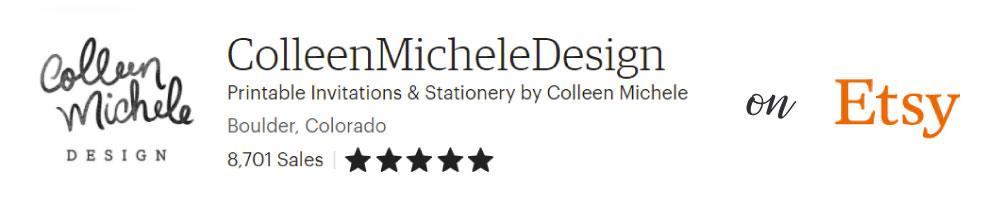 Screenshot of Colleen Michele Design, a shop on Etsy with over 8,000 sales