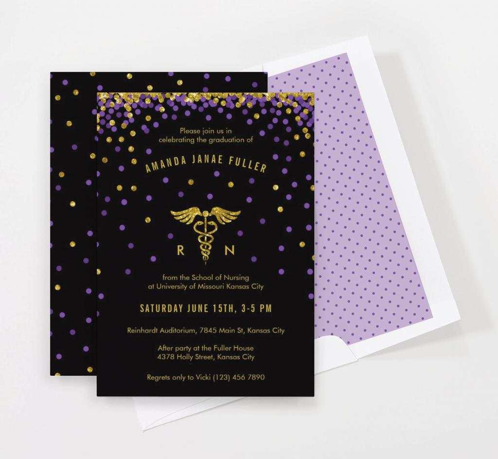 Confetti Graduation Invitation