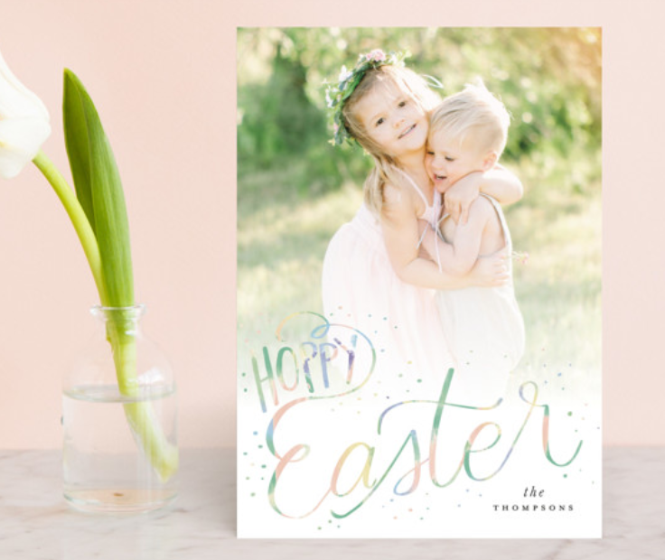Hoppy Easter Photo Card