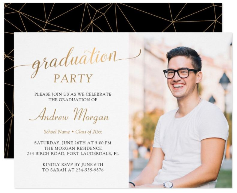 fun photo graduation invitation