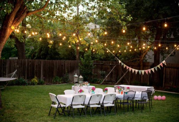 party string lights for outdoor graduation