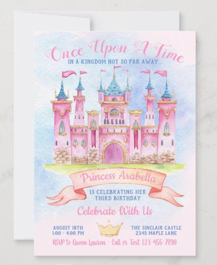 castle birthday invitation