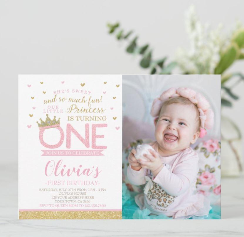 princess 1st birthday