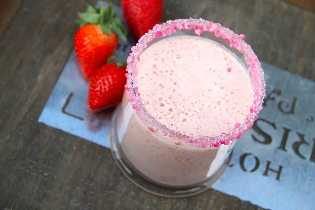 strawberry milkshake princess parties