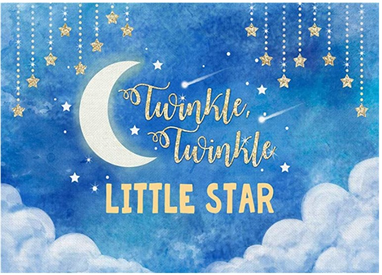 baby boy twinkle star banner for shower