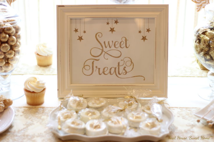 sweet treat sign for baby shower
