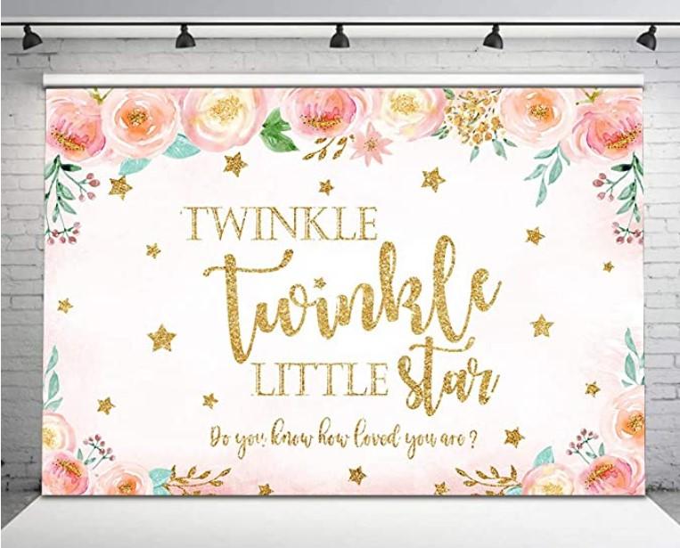 twinkle little star banner for shower