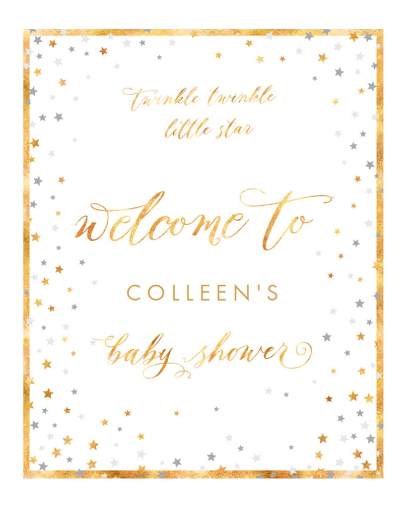 Free Welcome Poster for Baby Shower