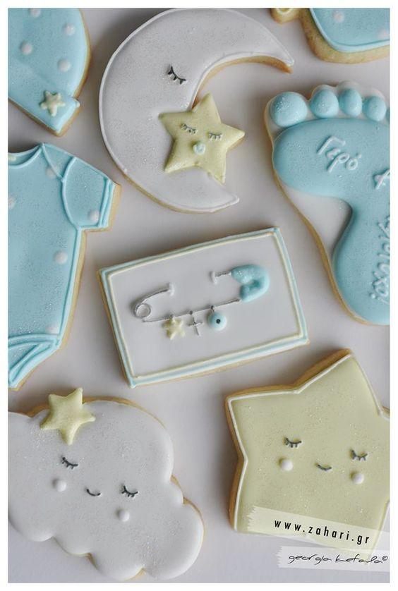 baby boy twinkle star cookies