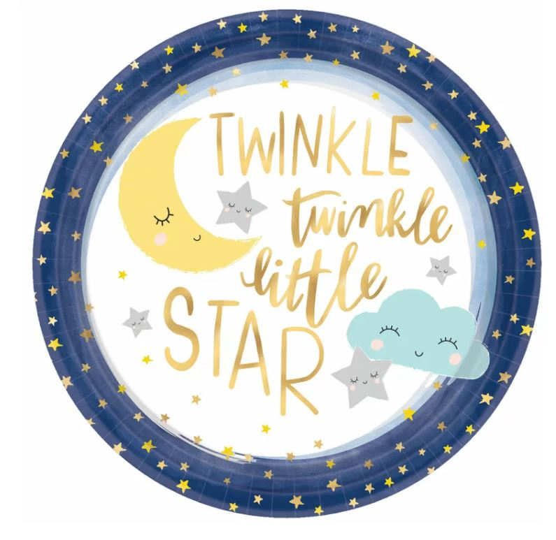 twinkle star party plates