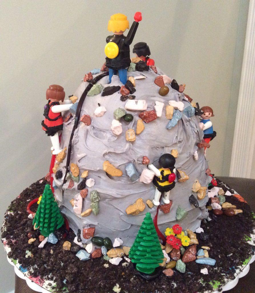 rock climbing cake for birthdays