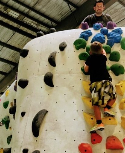 bouldering birthday party