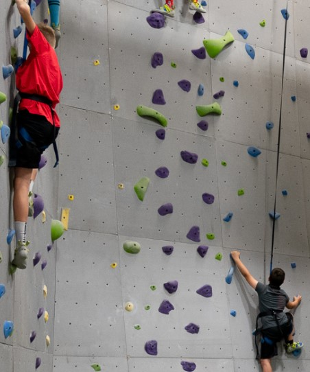 rock climbing gym birthday party