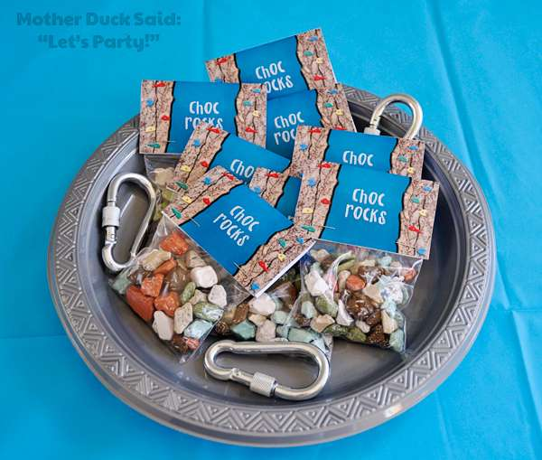 choc rocks party favors for birthday