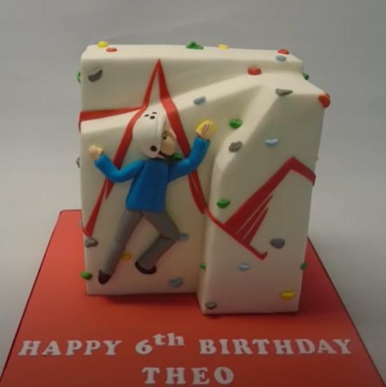 rock climbing birthday cake idea