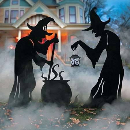 witches and cauldron party decoration
