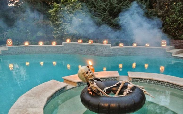 skeleton decoration for halloween party