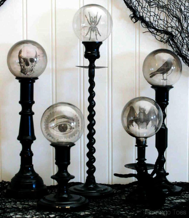 Halloween candlesticks