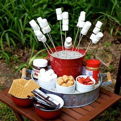 s'mores camping party