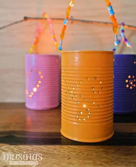 diy tin lantern for camping