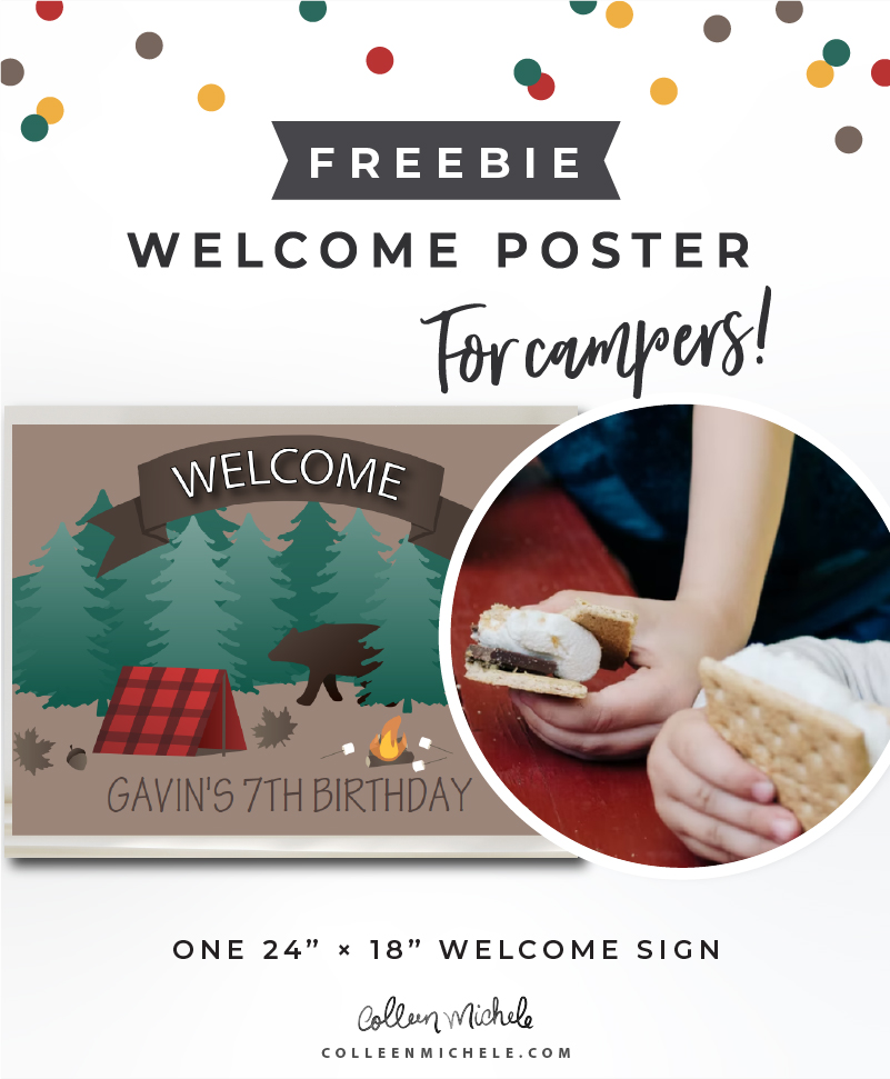 Free Printable Birthday Welcome Poster