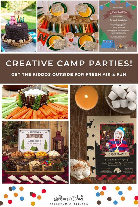 Camping theme birthday iddeas