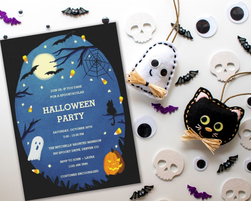 Halloween birthday party invitation for kids