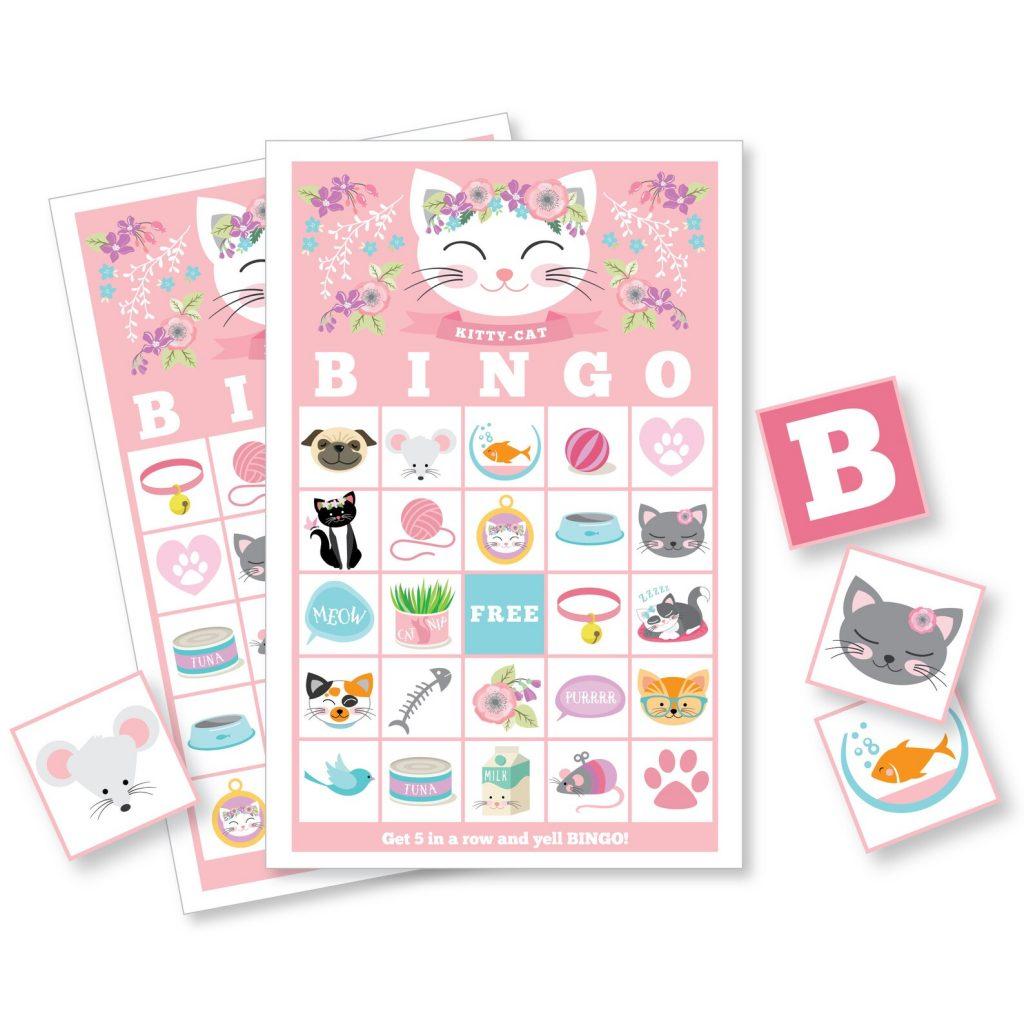 cat bingo game for birthday