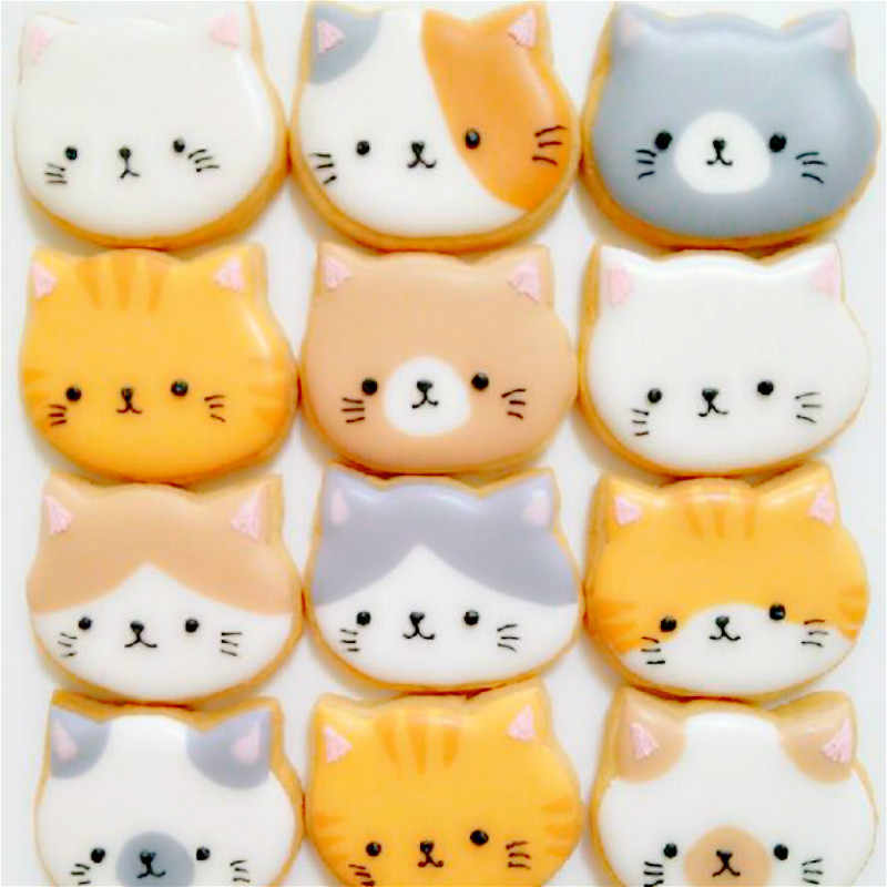 cute kitty cat cookies