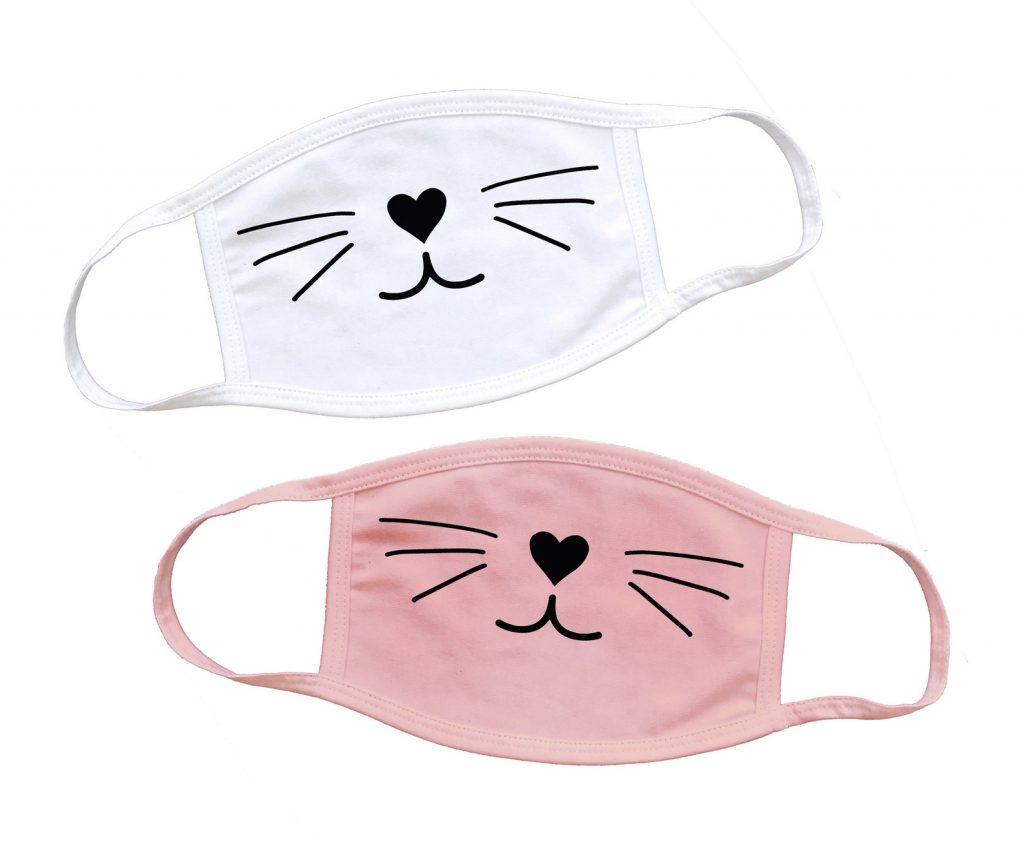 kitty cat face masks