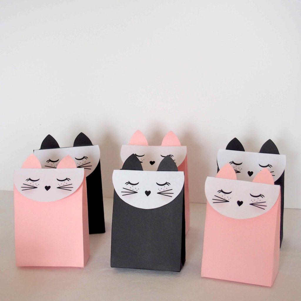kitty cat treat bags